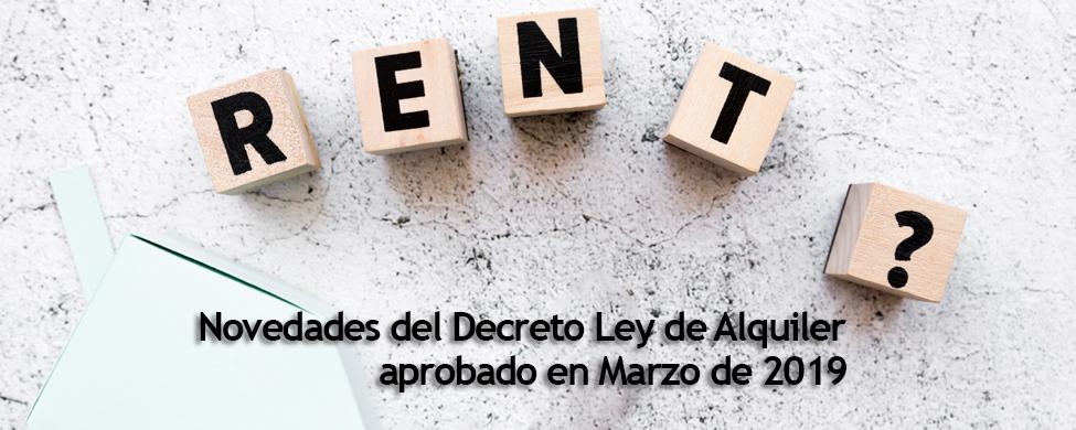 novedades que trae el Decreto de alquiler de viviendas 2019